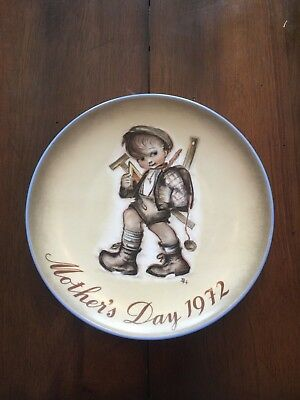 1972 Hummel Mothers Day collectors plate Limited ed