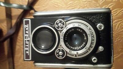 Vintage Italian made Ferrania Camera with leather case