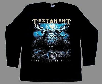 TESTAMENT Dark Roots of The Earth Trash Metal Men/'s Black T-Shirt Size S to 3XL