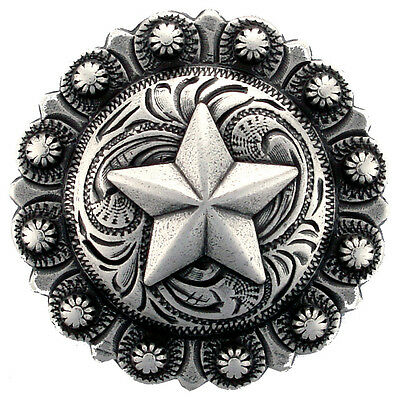 Antique Silver, Star Berry Concho 1""