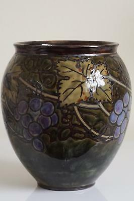 Royal Doulton Lambeth 'New Style' Grape Vine Vase  - Bessie Newbery - c.1922