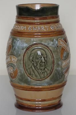 Doulton Lambeth William Ewart Gladstone - Large Commemorative Jug - c.1898