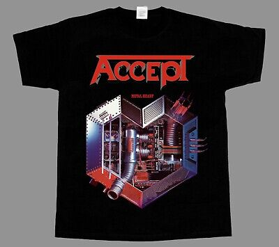 Accept Metal Heart Udo Heavy Metal Band Rage New Black T-Shirt