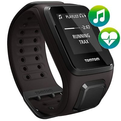 TomTom Spark - Cardio - Music - Brown - Large- GPS Multi Sport Watch