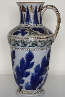 Monumental Early Doulton Lambeth Jug - Foliate Design - Arthur Barlow - c.1873
