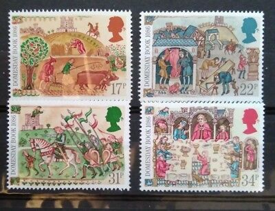 Gb 1986 Domesday Book Mnh Stamp Set (Free Postage Offer )