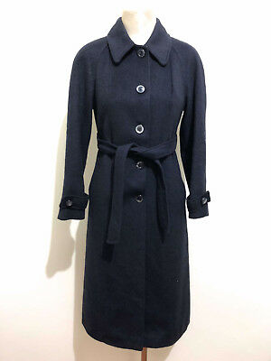 LODEN VINTAGE '70 Cappotto Trench Donna Lana Wool Woman Coat Sz.S - 42