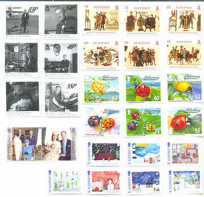 Alderney 2014 Complete year set all issues mnh