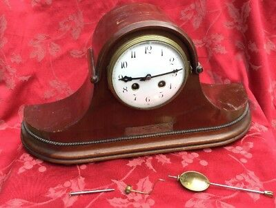 Good Quality Japy Freres French Mantel Clock Nice One For Spares Or Repair