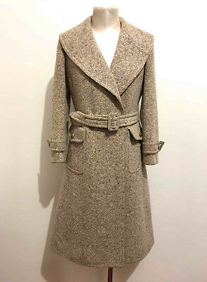 AQUASCUTUM VINTAGE '70 Cappotto Trench Donna Lana Wool Woman Coat Sz.S - 42
