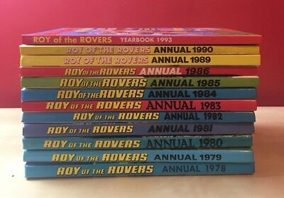 Roy of the Rovers Annual's x 12 Vintage/Retro Football/Soccer