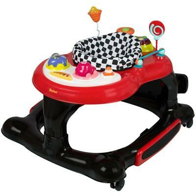 Swing Rotate BABY WALKER Supportive Rocker Comfortable Pad Music Light Display