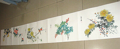 Excellent Chinese Hand Painting Flower Album By Qi Baishi 齐白石