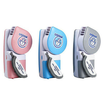 Mini Handheld Wind Up Water Mist Spray Cooling FAN Cool Air Blower Face Cooler