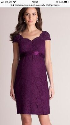 Seraphine luxe Plum Maternity Cocktail/occasion Dress 12