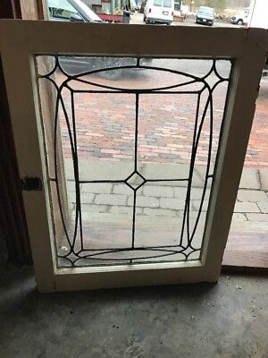 Sg 1958 Antique Leaded Glass Window 22.5 X 29.25
