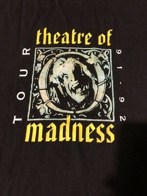 OZZY OSBOURNE Vintage T Shirt 90's Tour Concert 1992 Theatre Of Madness