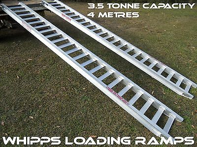 3.5 Tonne Capacity Machinery Loading Ramps 4 metres Long x 400mm track Width