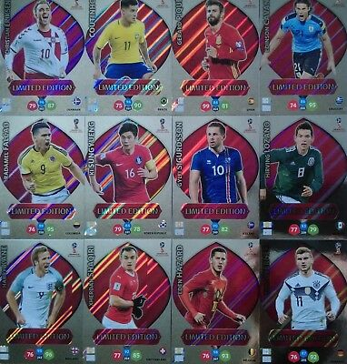 Panini Adrenalyn Xl World Cup Russia 2018 Limited Navas Messi Jesus Muwallad