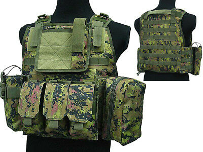 Tactical 027 Molle Combat Vest Magazine Pouch Airsoft Paintball Military WLD