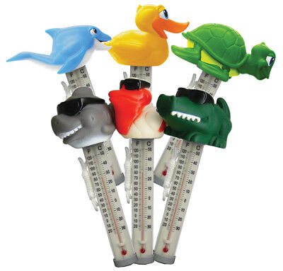 Swimming Pool Spa Hot tub Floating Animal Thermometer Shark Turtle Duck Whale