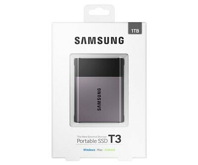 Samsung T3 1TB Portable USB 3.1 Type-C External Solid State Drive SSD PC NEW