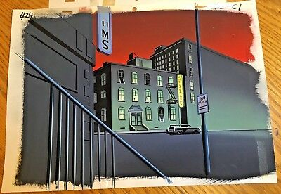 Batman Animated Series Original Production Background cel obg Gray Ghost Chelsea