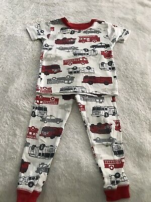 Carters Boys Just One You 2 Piece Fire Engine Pajamas Size 2T  R20