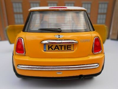 Personalised Plates Toy Mini Cooper Toy Car Model Boy Girl Dad