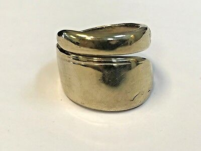Vintage Wm A Rogers Silver Plate Spoon Ring Size 8