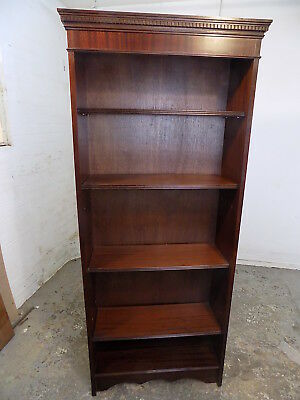 open front,reproduction,mahogany,bookcase,adjustable shelves,books,antique,style