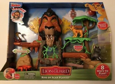 Disney Junior's The Rise of Scar Lion Guard Playset - includes Kion & Janja NEW