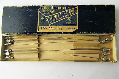 WWII WW2 Military German medical Boxed set 11 Hypodermic needles