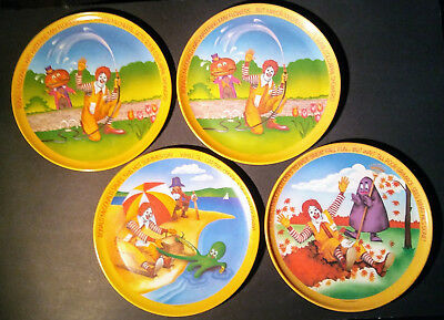 "Vintage 1977 McDonald's 10"" Plates - 4 SEASONS Series - Lot of 4 plates (3 + 1)"