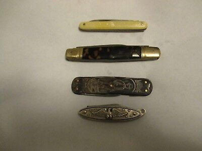 Lot Of 4 Vintage Pocket Knives Usa,and German Made  G.c.