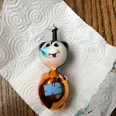 Rare Vintage Carlini Figural Mickey Mouse Christmas Ornament. Italy
