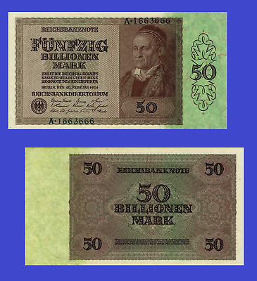 Germany 50 billionen mark 1924. UNC - Reproduction