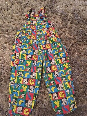 Mickey Mouse Dungarees Vintage George Asda 1.5 - 2 / 18 - 24