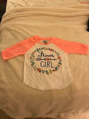 Flower Girl Reglan Tee 2T Coral New