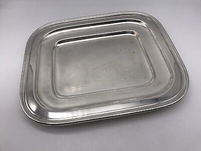 VTG WILCOX IS International Silver N69 Rectangle Tray ? Waiter's / Bread 4959