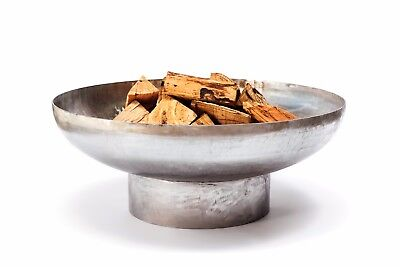 "NEW - 1/4 Inch Stainless Steel ""Mercury"" Outdoor Wood Burning Fire Pit"