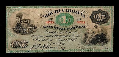 1873 $1 South Carolina Obsolete Currency