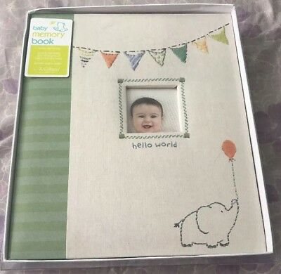 New C.r. Gibson First 5 Years Loose Leaf Memory Book- Made With Love, Baby Book