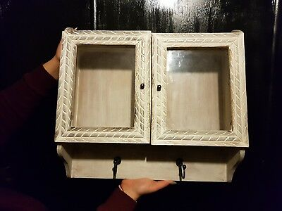 Authentic shabby chic wooden wall bedroom shelf