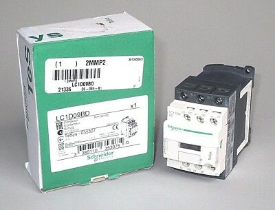 FREE PRIORITY MAIL Schneider LC1D09BD Contactor, 24VDC, 9 FLA, 25A res., 2MMP2
