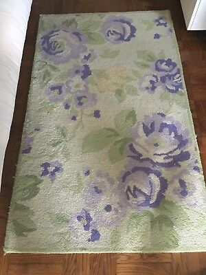 3 X 5 Pottery Barn Kids Floral Handcrafted Wool Area Rug - used - good condition