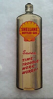 Vintage SHELL Oil SHELLANE Bottle Gas Cooking Guide - NOS * Very Rare *