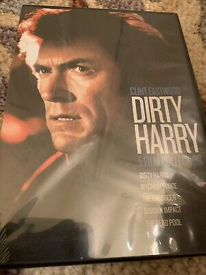 Dirty Harry Collection 5 Movies (DVD Box Set) Factory Sealed FAST SHIPPING