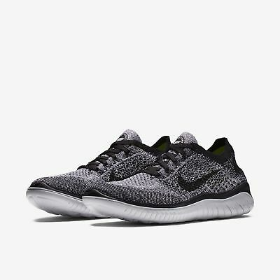 newest 3f88e 36b7a NIKE FREE RN Flyknit Black/White Oreo Womens Running 2018 ALL NEW
