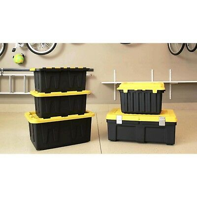 15 GALLON TOUGH TOTE Heavy Duty Storage Container Plastic Box